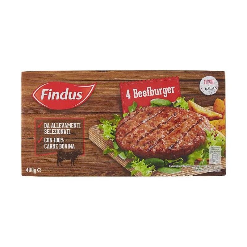 Findus 4 Beefburger 400 g